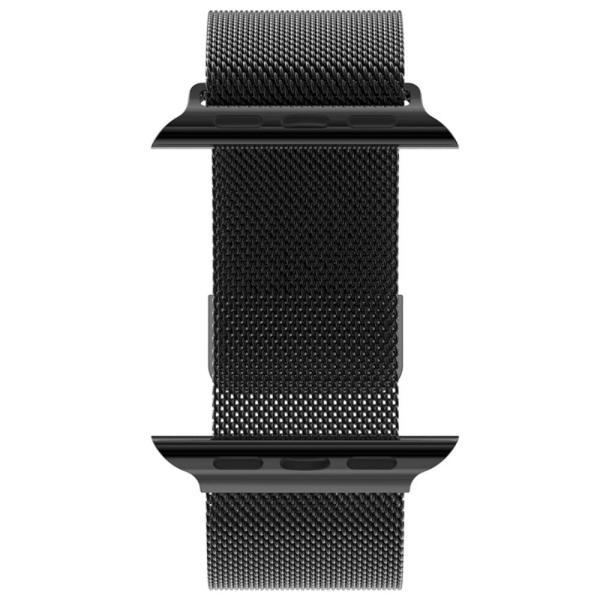 Milanese Loop rvs zwart bandje voor de Apple Watch 42mm-001