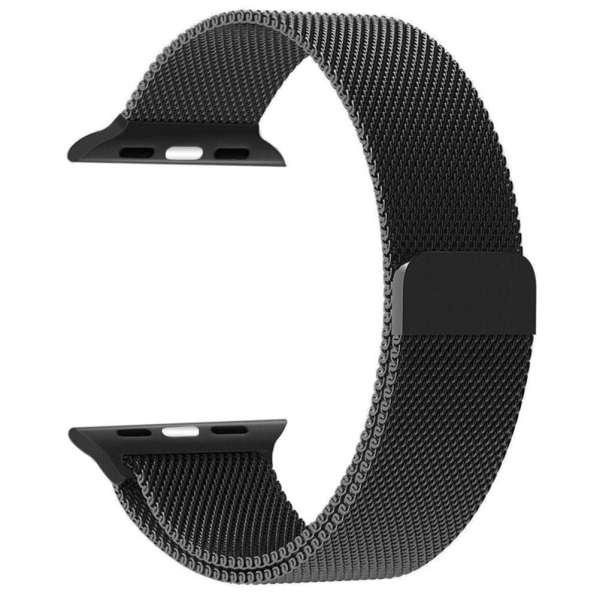 Milanese Loop rvs zwart bandje voor de Apple Watch 42mm-005