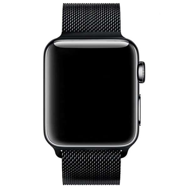 Milanese Loop rvs zwart bandje voor de Apple Watch 42mm-006