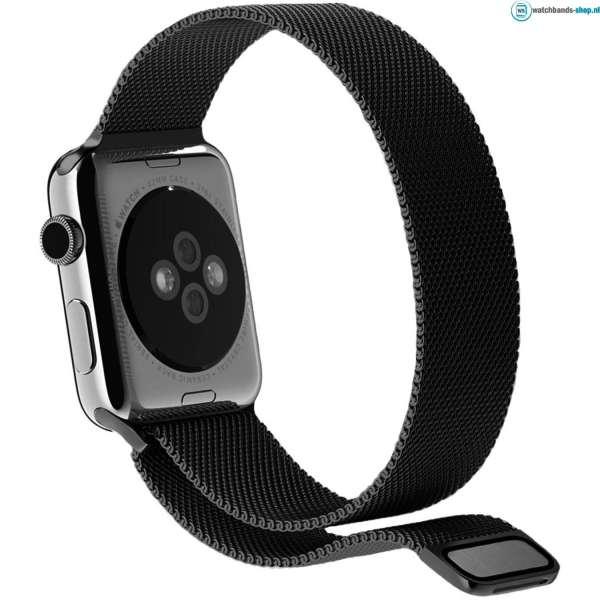 Milanese Loop rvs zwart bandje voor de Apple Watch 42mm-015