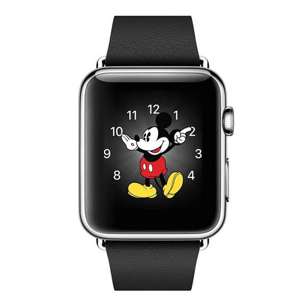 Luxe Classic Lederen armband voor de Apple Watch (38mm) zwart-007