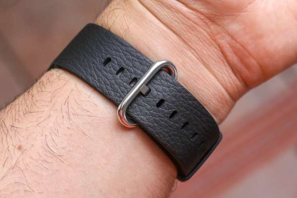 Luxe Classic Lederen armband voor de Apple Watch (38mm) zwart-008