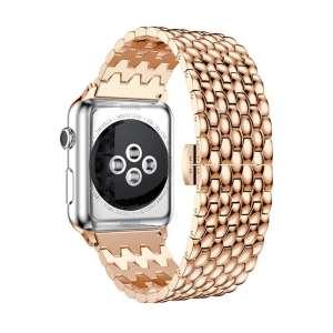 RVS rose goud metalen bandje armband voor de Apple Watch iwatch-001