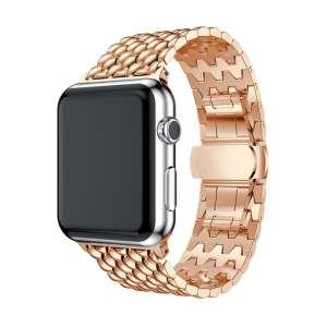 RVS rose goud metalen bandje armband voor de Apple Watch iwatch-002