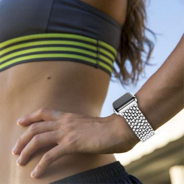 RVS zilver metalen bandje armband voor de Apple Watch iwatch-005