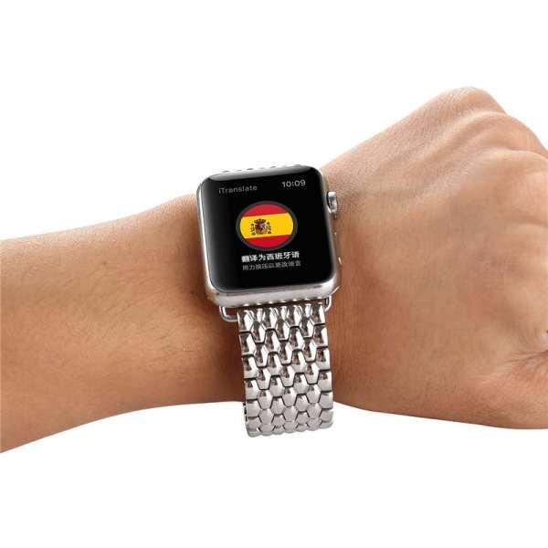 RVS zilver metalen bandje armband voor de Apple Watch iwatch-006