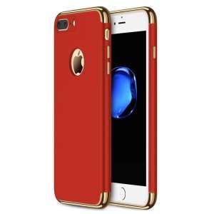 3 in 1 luxe rode telefoonhoesje voor iPhone 7 Ultradunne TPU beschermhoes-013