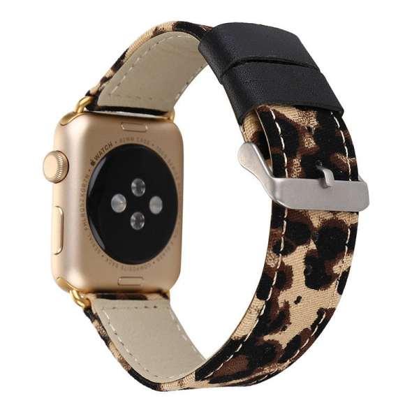 Leopard lederen bandje met klassieke gesp voor Apple Watch 42mm-003
