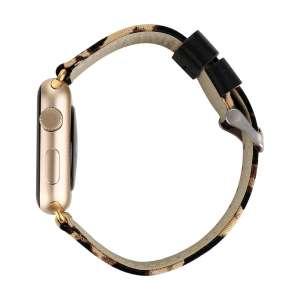 Leopard lederen bandje met klassieke gesp voor Apple Watch 42mm-005