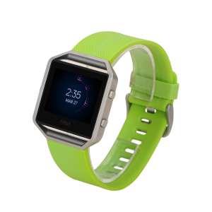 Luxe Siliconen Bandje large voor FitBit Blaze – groen
