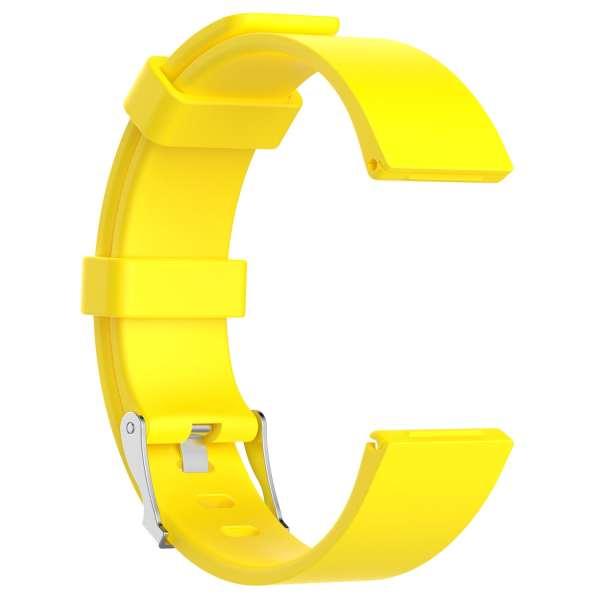 Luxe Siliconen Bandje large voor FitBit Versa – geel-004
