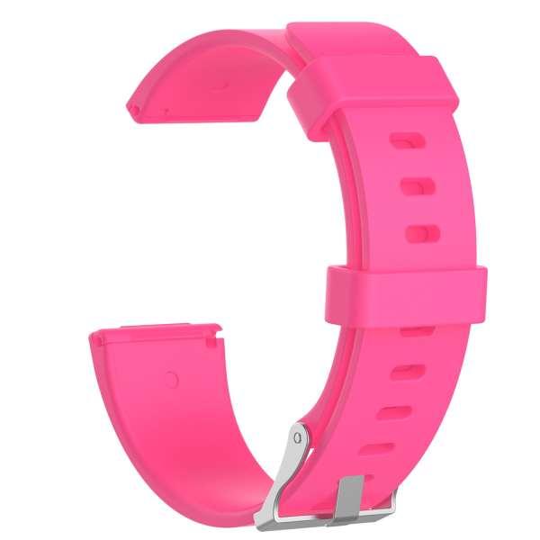 Luxe Siliconen Bandje large voor FitBit Versa – roze-003
