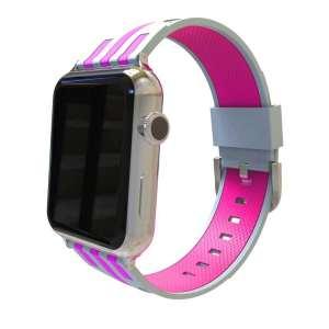 Apple watch bandje 38mm duo grijs - roze_001
