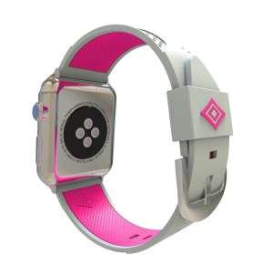 Apple watch bandje 38mm duo grijs - roze_004