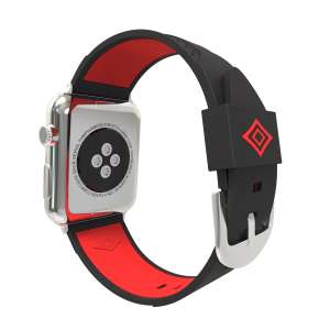 Apple watch bandje 38mm duo zwart - rood_004