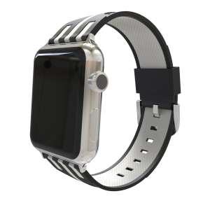 Apple watch bandje 38mm duo zwart - wit_003