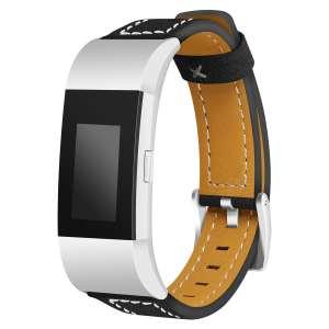 Fitbit Charge 2 bandjes leer zwart_001