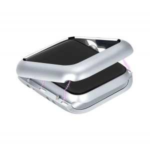 42mm beschermende Magnetisch adsorptieontwerp Case Cover Protector Apple watch 2 - 3 Zilver_006