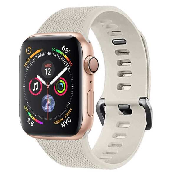 42mm en 44mm Sport bandje stone geschikt voor Apple watch 1 - 2 - 3 - 4 _001