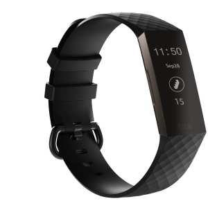 Bandje geschikt voor Fitbit Charge 3 SMALL – zwart_003