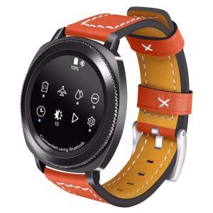 Samsung Gear Sport 20mm bandje Samsung Galaxy 42mm bandje SM-R810 leer oranje_006