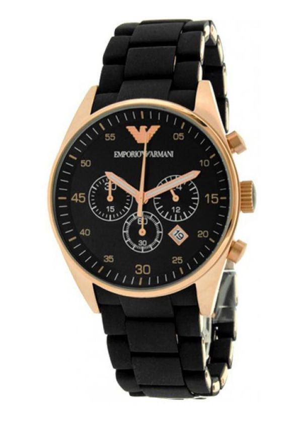 Emporio Armani Ar5905 Black And Gold Watch - Swiss Watches