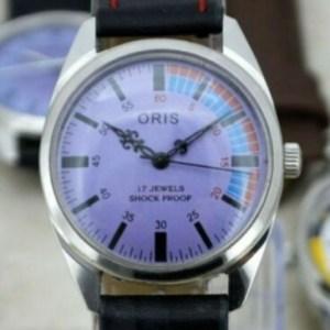 Oris Watch With Purple Dial