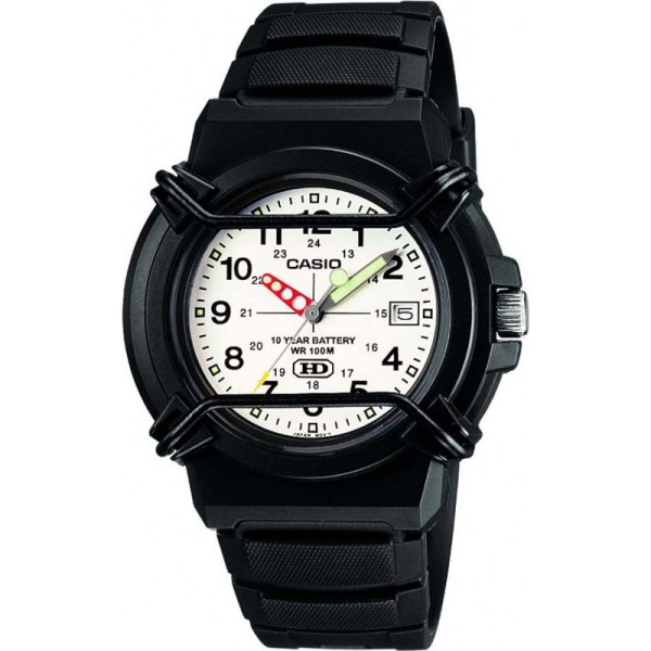 Hda-600b-7bvef - Casio Collection 10 Year Battery Black Resin Watch
