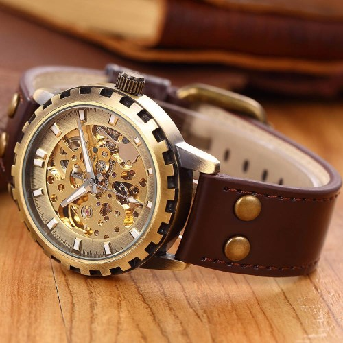 Skeleton Mechanical Self Wind Vintage Luxury Watch