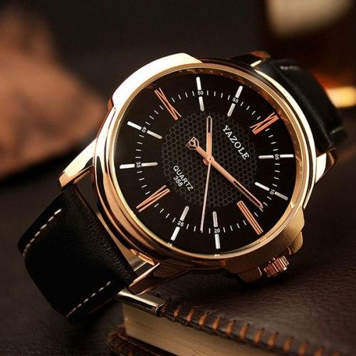 YAZOLE Rose Gold Wrist Watch Men