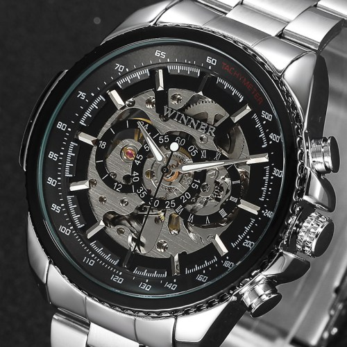 Winner Skeleton Mechanical Luxury Watch for Men