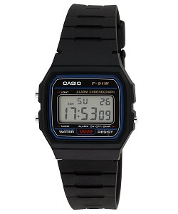 Casio Vintage Series Digital Black Dial Men's Watch - F-91W-1DG