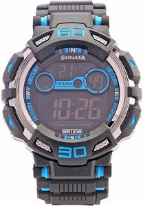 Sonata NH77009PP02J Ocean Digital Watch
