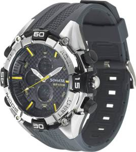 Sonata NH77028PP01J Superfibre Analog-Digital Watch