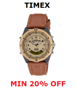 Timex Watch Offer - Min 20% Off