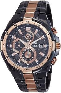 Casio Edifice Chronograph Black Dial Men's Watch - EFR-539BKG-1AVUDF
