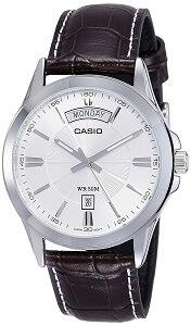 Casio Enticer Analog Silver Dial Men's Watch - MTP-1381L-7AVDF