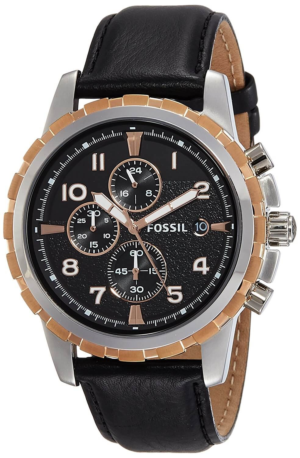 Fossil End of Season Chronograph Black Dial Men's Watch – FS4545