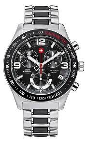 Swiss Military By Chrono Analogue Black Dial Men's Watch SM34016.02