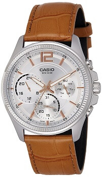 Casio Enticer Analog White Dial Men's Watch – MTP-E305L-7A2VDF
