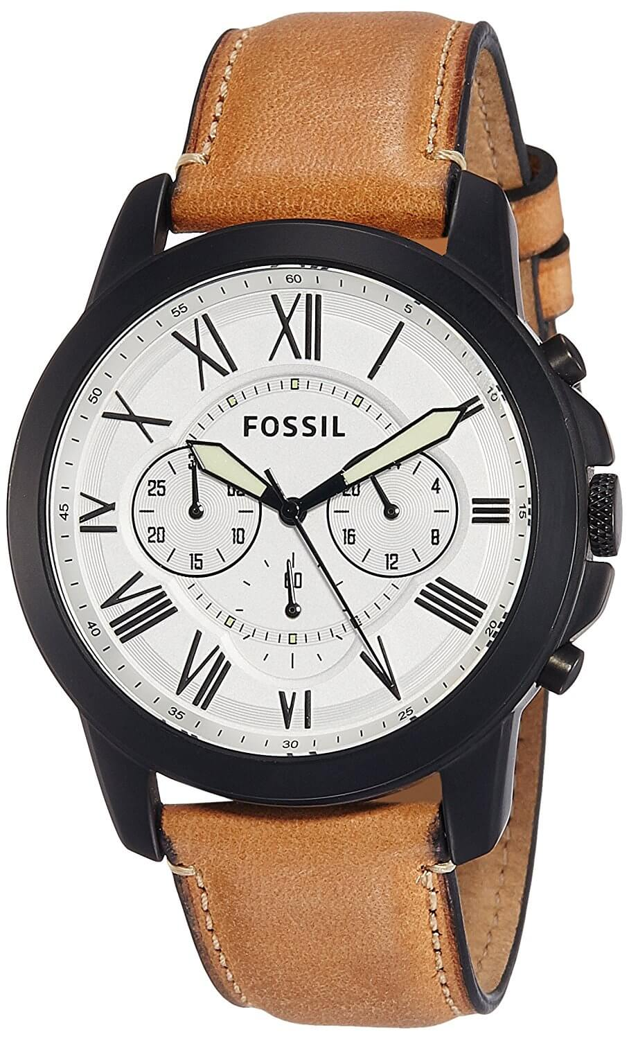 Fossil End-of-season Grant Analog White Dial Men's Watch – FS5087