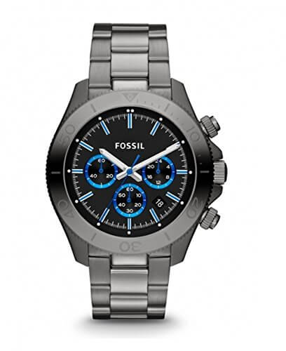 Fossil Retro Traveler Chronograph Black Dial Men's Watch – CH2869