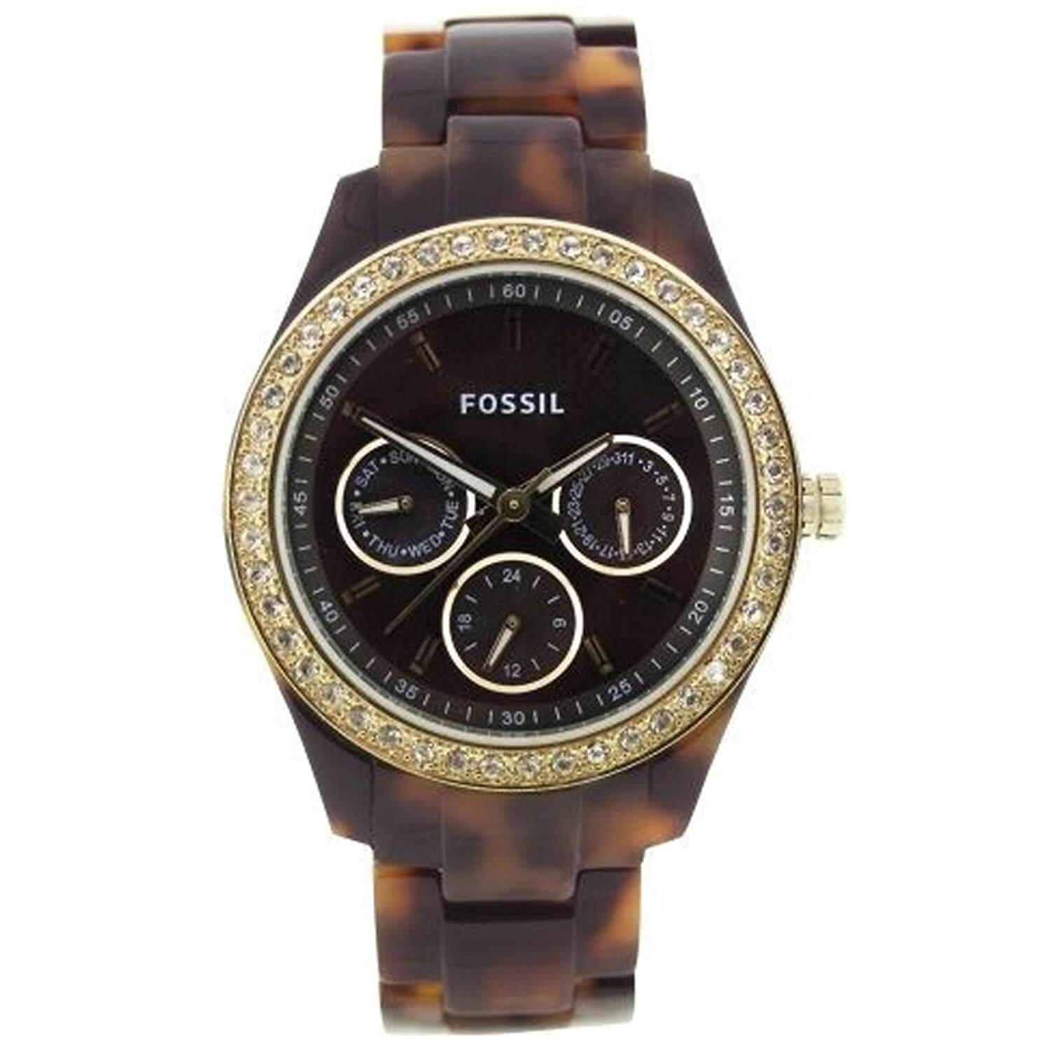 Fossil Stella Chronograph Brown Dial Women's Watch – ES2795