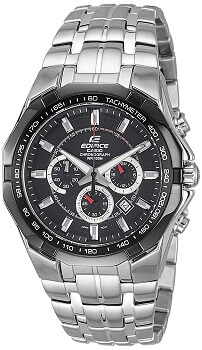 Casio Edifice Tachymeter Chronograph Black Dial Men's Watch – EF540D-1AVDF