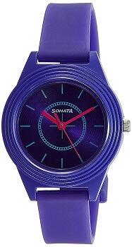 Sonata Analog Purple Dial Girls Watch – 87024PP01