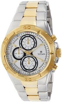 Titan Regalia Chronograph Analog Silver Dial Men's Watch – NE9308BM01J