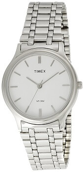 Timex Classic Analog White Dial Men's Watch – P100