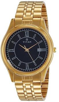 Titan Analog Black Dial Men's Watch – 1713YM04