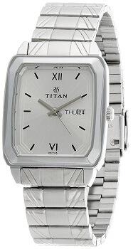 Titan Karishma Analog Silver Dial Men's Watch – NE1581SM03