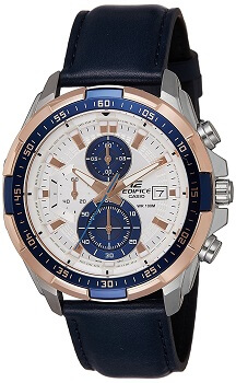 Casio Chronograph Off-White Dial Men's Watch-EFR-539L-7CVUDF